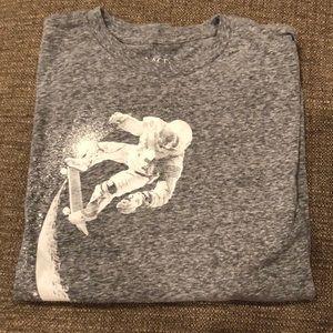 Long sleeve gray skating the moon shirt
